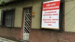 Casa donde vivió Maradona en Villa del Parque