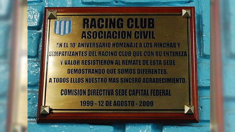 Defensa de la sede de Racing de Villa del Parque