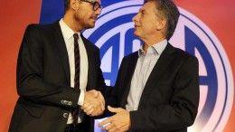 Marcelo Tinelli y Mauricio Macri