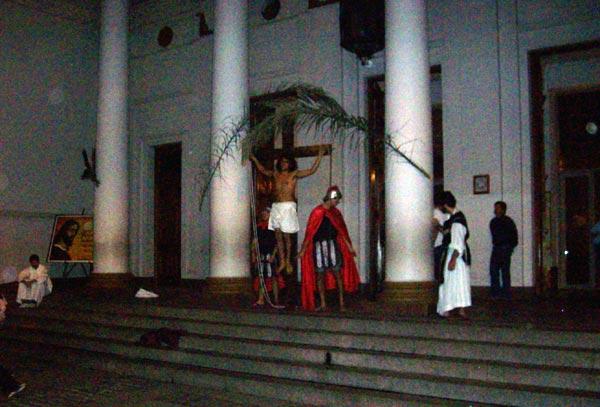 Via Crucis en iglesia Santa ana, Villa del Parque
