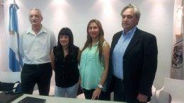 Cuerpo de inspectores Comuna 11: Ricardo Sotomayor, Dana Clemente, Karina Piserchia y Arq.Carlos Bulletti.