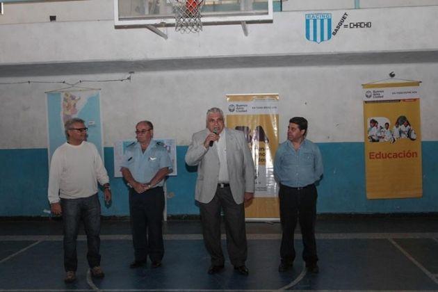 Guzzini con los veteranos de guerra