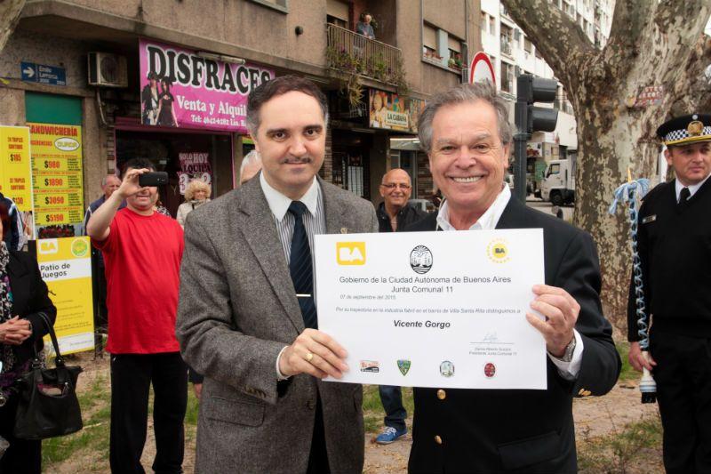 Arnaldo Miranda y Alberto Becerra en el aniversario de Villa Santa Rita