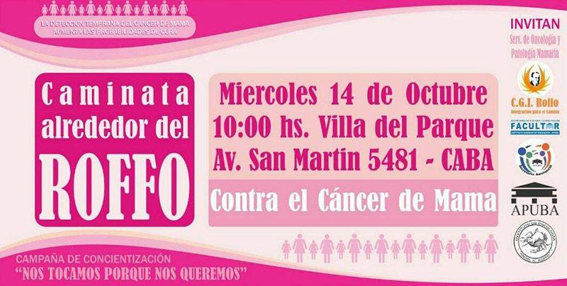 caminata al rededor del roffo contra el cancer de mama