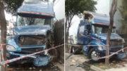 Camion mata padre e hijo