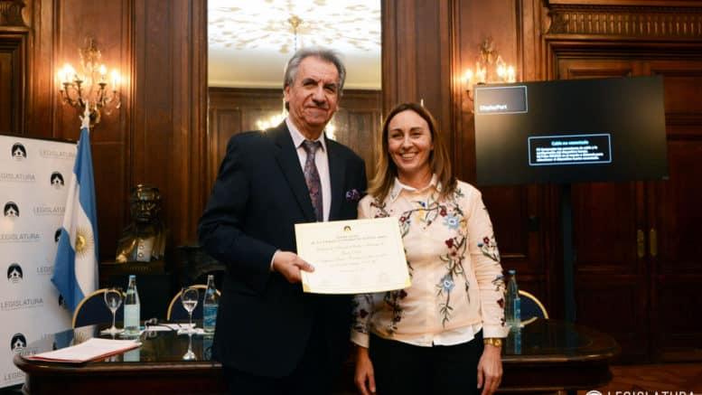 La diputada Vischi y el doctor Carlos Ferreyra Nuñez