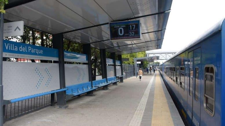 Anden estación Villa del Parque