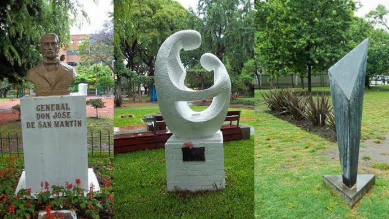 Monumentos plaza Villa del Parque