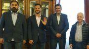 Tombolini con representantes del Islam