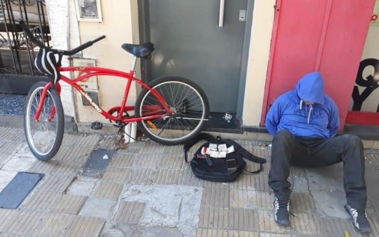 Ladron ciclista Villa del Parque