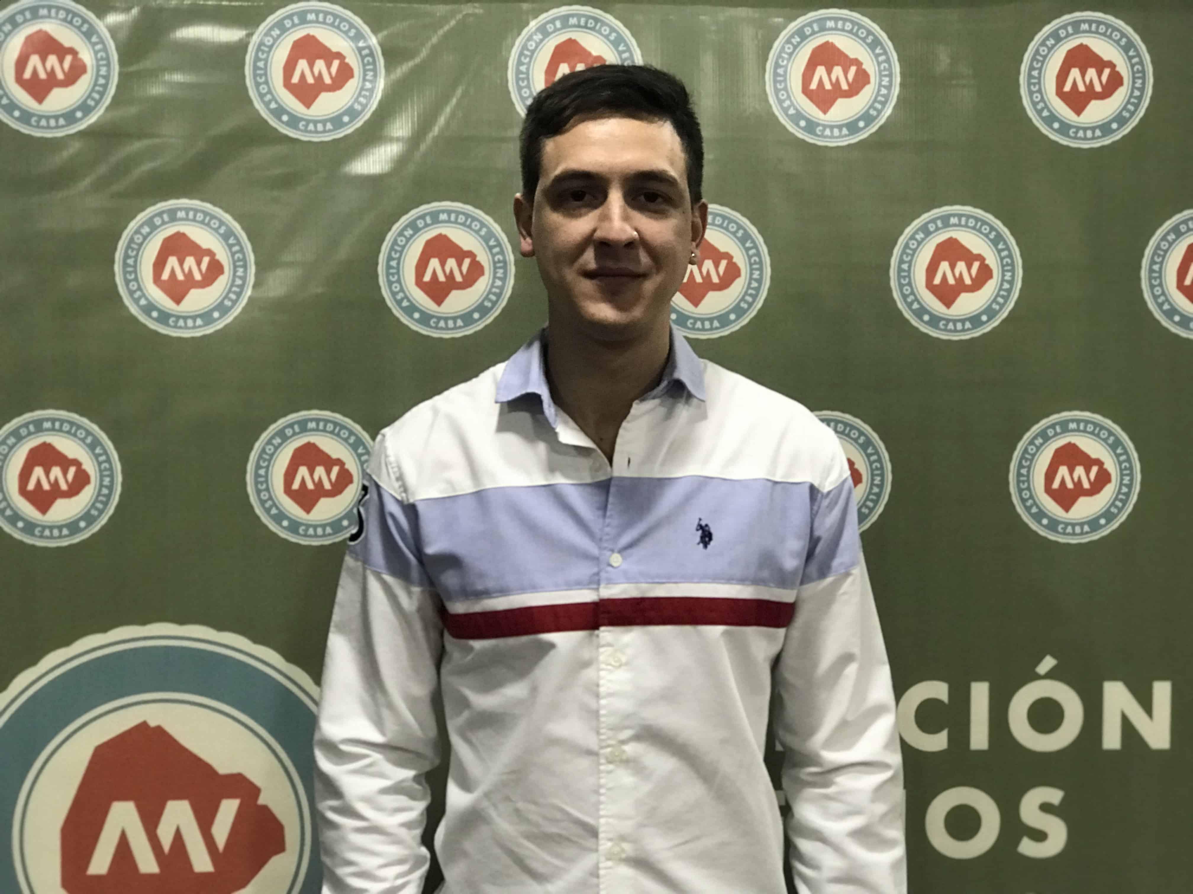 Leandro Bara presidente Asociacion Medios Vecinales