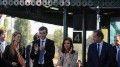 Cristina Kirchner en la estación de Sáenz Peña