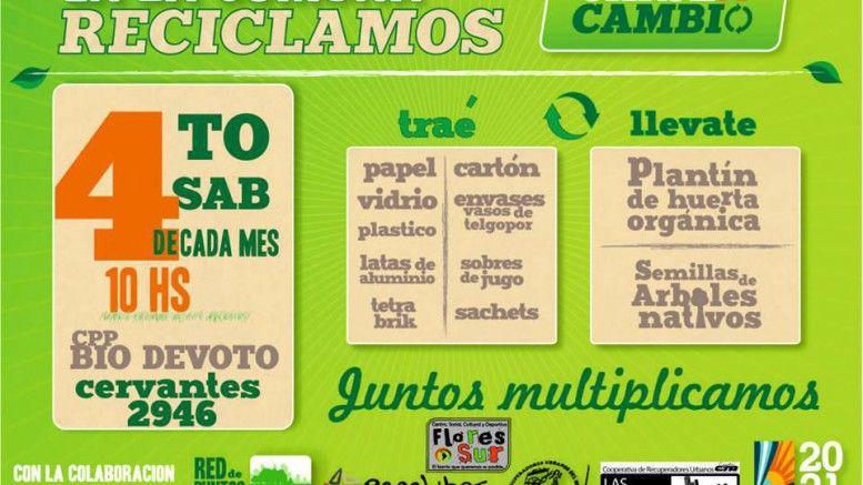 Canje De Material Reciclable Por Semillas Y Plantines
