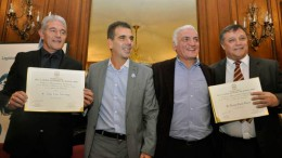 Jorge Burruchaga y Ricardo Daniel Bertoni