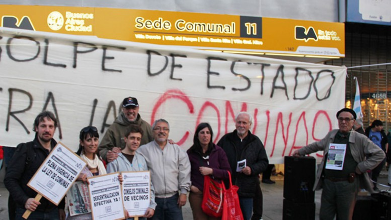 Manifestacion sede comunal 11