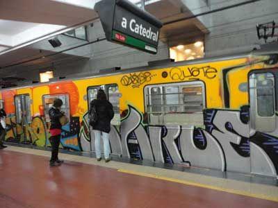Graffitis en el subte